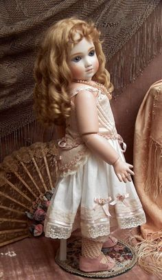 """French Doll by  A. Thuillier  marked  A9T,  22"""" Tall 