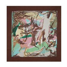 Ascher Artist Squares - Francisco Bores  Unititled  1947 90cm x 90cm Silk Crepe
