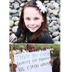 #أيقونة_الإنسانية الطفلة الأمريكية راتشيل بيكويذ كانت في طريقها لإكمال التاسعة من عمرها فقررت أن تجمع التبرعات في يوم ميلادها لكي تساعد الأطفال الفقراء في أفريقيا من شرب الماء النظيف لكنها ماتت إثر حادث مروري مروع قبل أن تحقق ذلك الهدف. وعندما قرأ الناس قصتها في ذكرى ميلادها التالي، تبرعوا بعد تأثرهم بالقصة لتصل قيمة التبرعات إلى 1.2 مليون دولار ساهمت في تغيير وتحسين حياة أكثر من 60 ألف طفل في إثيوبيا