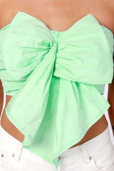 Mint green bow top<3