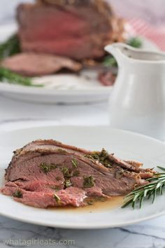 Leg of Lamb with Fresh Mint Sauce is roasted with rosemary and studded with garlic. It's the perfect Easter meal or Sunday supper recipe. The recipe's here! Boneless Leg Of Lamb, Mint Sauce, Sunday Suppers, Supper Recipes, Fresh Mint, Easter Recipes, Steak, Roast, Easy Meals