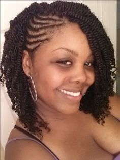 Cornrows with twists