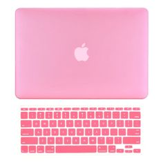 "TOP CASE 2 in 1 - Macbook Air 11"" Rubberized Case Cover + Keyboard Cover - Pink"
