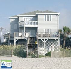Ocean Pause | Bedrooms: 4 | Baths: 3 Full | Accommodates: 14 | Oceanfront | 340 South Waccamaw Drive | Ocean Front (South) | 0.3 mile south of Garden City Pier
