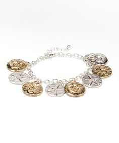 Look what I found on #zulily! Silver & Gold Stamped Sea Life Charm Bracelet #zulilyfinds
