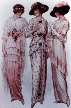 post edwardian fashion | And then we need some evening wear.