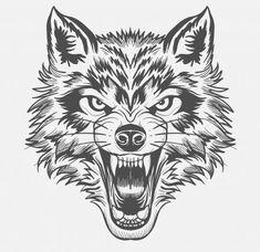 Wolf Vectors, Photos and PSD files Wolf Tattoos, Wolf Face Tattoo, Tribal Wolf Tattoo, Wolf Face Drawing, Werewolf Tattoo, Celtic Tattoos, Animal Tattoos, Stomach Tattoos, Head Tattoos