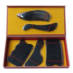 Cheap Massage & Relaxation, Buy Directly from China Suppliers:	Super quality	Material:natural ox horn	package:gift box (5pcs/set+1 pcs chart)	single one packs with plastic bag,every