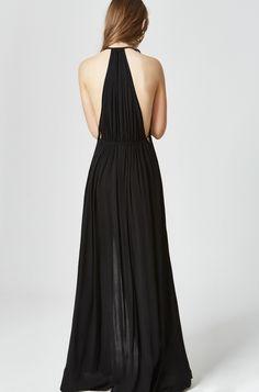 Vestido largo casual. Modelo ARLETA negro Etxart&Panno Tienda Online