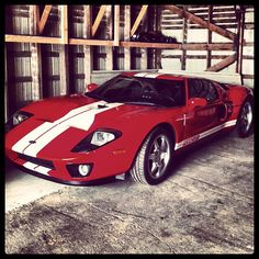 Red Hot Ford GT with white stripes! what colour and stripe combo would you have for your Ford GT?