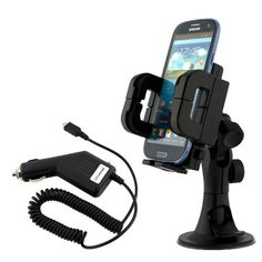 iKross 3in1 Car Vehicle Windshield / Dashboard / Air Vent Mount Holder + Car Charger for Samsung Galaxy Axiom SCH-R830, Ativ S I8750, Galaxy Stratosphere II SCH-i415, Galaxy S III Mini i8190 Cellphone Smartphone and more by iKross. $13.95. Hit the road with our new iKross 2-Port USB Car Cigarette Socket Mount Holder. With 2 USB port with 2A output, extra car socket and phone holder with flexible goose neck, it is the best traveling car kit. You can charge your cell phone, mp3 p...