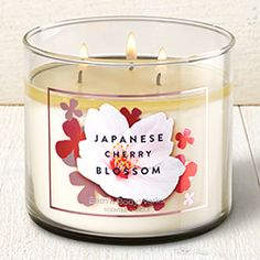 Japanese Cherry Blossom 3-Wick Candle - Home Fragrance 1037181 - Bath & Body Works