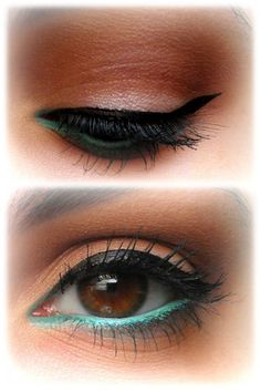 Green eyeliner.