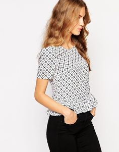 Jovonna Reeves Top With Peplum