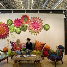 Positively Crochet!: Crochet Wall Art - Beautiful!