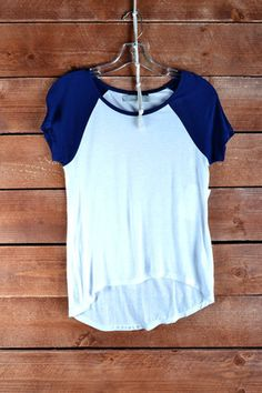 The Perfect Tee-Navy/White