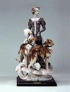 Giuseppe Armani Lady With Borzois-Retired  1122C $1395.00. #GiuseppeArmani #Figurine.