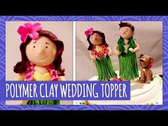 We're right in the middle of wedding season, and if you want a cute, personalized cake topper, why not make it out of polymer clay? These clay hula dancers (...