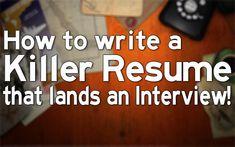 Write A Killer Resume