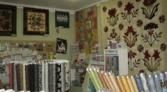Some of our beautiful fabric and quilts
