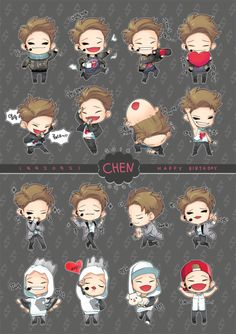 Chibi Chen....SO.......CUTE....<3.<3 it looks just like him omg so cute