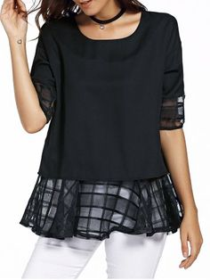 GET $50 NOW   Join RoseGal: Get YOUR $50 NOW!http://www.rosegal.com/plus-size-tops/sweet-round-neck-half-sleeve-437169.html?seid=6833286rg437169