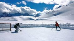 B.C. RCMP have tweeted a picture of a Mountie in full uniform playing hockey on a mountain-side rink, and some are wondering if it's the most Canadian image ever.