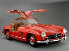 Mercedes Benz Gullwing 300SL.  SLS AMG is based on this 300SL !!