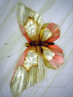Butterfly marquetry detail