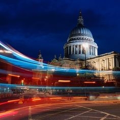 Light Flash -  Blue Hour at St Paul's with the light trail of a bus passing by.  This spot is great for photographers to grab a shot of the iconic building with some nice light trails! Do you remember this spot @rachelfuller_photography? #london