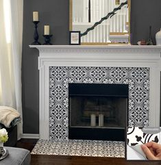 18 tile stickers for fireplace ideas