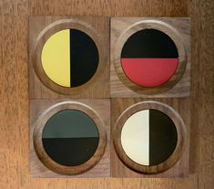 """VINTAGE MID CENTURY Laurids Lonborg Teak Coasters Danish Modern - $100.00. Hard to find vintage teak Laurids Lonborg coasters. Coasters are in good vintage condition with a tiny nick or two. Please review photos before bidding. All questions gladly answered. 3 7/8"""" x 3 7/8"""" 192890508535 Bar Coasters, Wood Candle Holders, Space Crafts, Mid Century Modern Design, Danish Modern, Teak, Vintage, Photos, Wooden Candle Holders"""