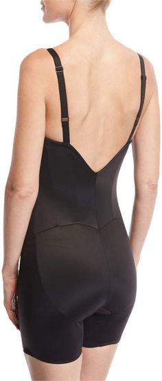 01ac01610 TC Shapewear Firm Control Low-Back Mid-Thigh Bodysuit Shaper  Firm Control