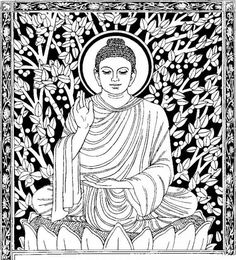 Coloring page: Hindu Mythology: Buddha (Gods and Goddesses) #1 - Printable coloring pages