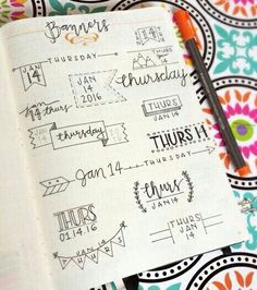 My Bullet Journal & Inspiration — time-to-get-focused: ✨TA DA! My Banner… Bullet Journal Inspo, My Journal, Bullet Journals, Journal Pages, Bullet Journal Writing Styles, Bullet Journal Headings, Bullet Journal Layout Ideas, Bullet Journal For Beginners, Smash Book