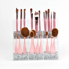 Kathleen 2 Tier Acrylic Makeup Brush Holder