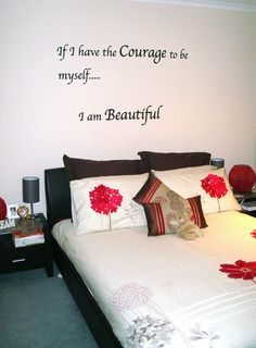 Custom wall lettering design for customer.  Designed by Cool Art Design.  Installed by customer.