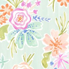 MAEVE PARKER on INSTAGRAM -  Snippet of a new Sea Anemone Floral I have in the works, it's part of a larger seashore-themed stationery suite, fit for a mermaid! #illustration #floral #watercolorfloral #watercolor #mermaid #seashore #anemone #printandpattern #botanical #summerfloral #fitforamermaid #pastels #gouache #gouachefloral