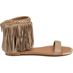 Boho Dreamin' Faux Suede Sandals ($22) ❤ liked on Polyvore featuring shoes, sandals, flats, boho shoes, faux suede shoes, boho chic shoes, bohemian style shoes en flats sandals