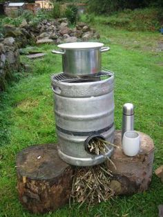 Rocket Stove out of Beer Keg