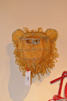 Beaded Lion Handmade Wire, Lion, African, Beads, Inspiration, Decor, Products, Leo, Beading