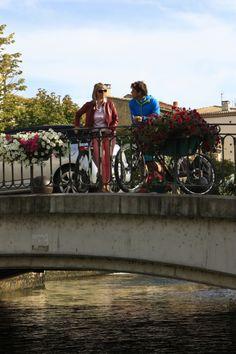 #Cycling in Isle sur la Sorgue ©Alain Hocquel-ADTVaucluse #Vaucluse #Provence #vélo