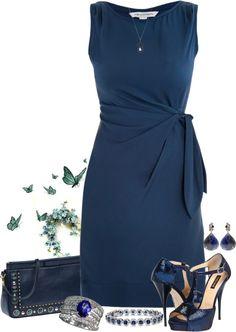 """Devil wih a Blue Dress"" by girlyideas on Polyvore"