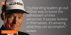Wal-Mart founder Sam Walton knows leadership. #personnel #confidence #leadership #sam #walton #motivational #quotes