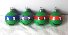 teenage mutant ninja turtles christmas ornaments | We can't forget TNMT in our Marvel superhero indulgence! This set of ...