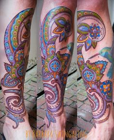 henna color tattoo