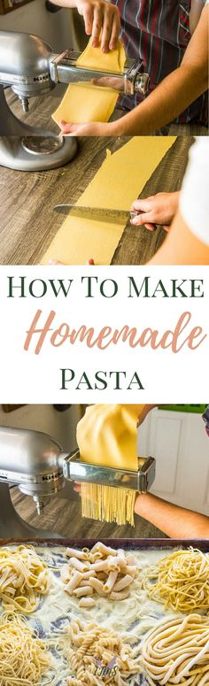 Homemade pasta is leagues above the kind you can find in the store. I want to give you my tips and tricks on how to make homemade pasta with and without a machine! via @ijustmakesandwi