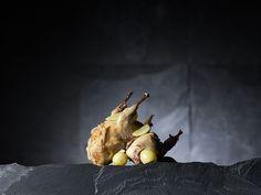 Cailles rôties au naturel et raisins frais par le Chef Giovanni Apollo #apollorecettes