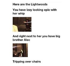 Oh poor Alec :( he was so pitiful at the start of the series. He grew though. With Mangus' help. This is ... really romantic now that I think about it.