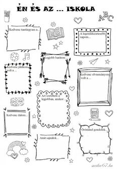 Játékos tanulás és kreativitás: Én és az ... iskola Bullet Journal Decoration, Bullet Journal Banner, Planner Doodles, Punch Needle Patterns, Bullet Journal Inspiration, Teaching Tips, School Projects, Special Education, Preschool Activities